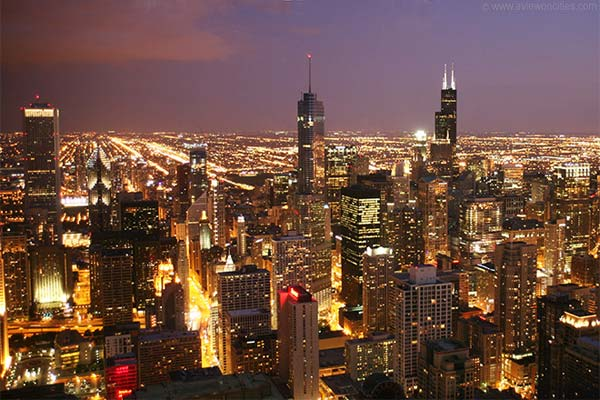 Night View from 360 Chicago