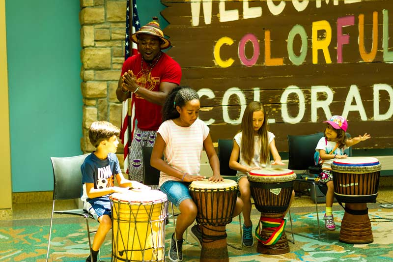 History Colorado Center - Kids Drumming