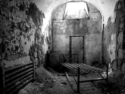 Cell at Eastern State Penitentiary
