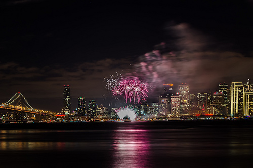 Fireworks in San Francisco