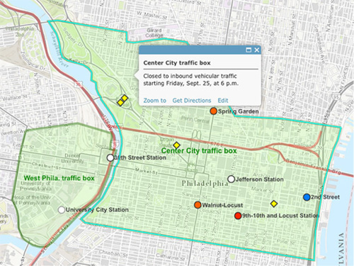 Map of Pope Visit to Philadelphia
